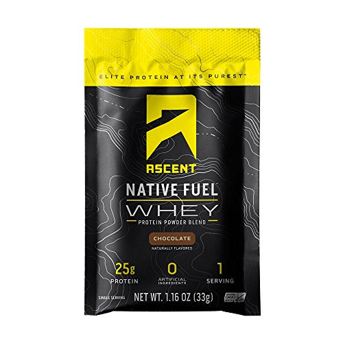 (Ascent Native Fuel Whey Protein Powder - Chocolate - 15 Single Serving Packets)