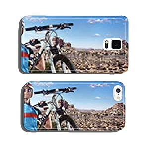 Sport. Cyclist carry a bike on sunny sky cell phone cover case iPhone5