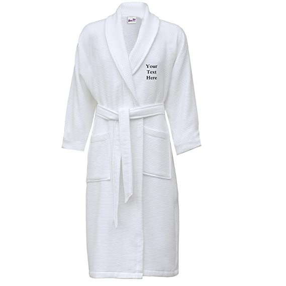 Bang Tidy Clothing Waffle Dressing Gown Personalised Bathrobes for Men  Present with Free Embroidery Small Medium Ivory  Amazon.co.uk  Clothing 8ee52a9a0