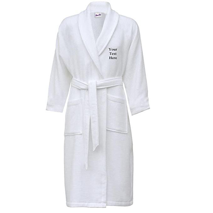 Bang Tidy Clothing Waffle Dressing Gown Personalised Bathrobes for ...