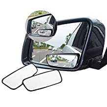 Meirun 360° Rotate Blind Spot Mirror,Adjustabe Wide Angle Rear View Mirror HD Glass Convex Side View Mirror for Car