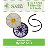 Dyson DC-14 Filter & Seal Kit; Compare to Dyson Part Nos. 90142-02, 921623-01, 901420-01, 904979-02, 905401-01; Designed & Engineered by Think Crucial