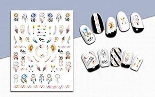 aiuin 5ST hojas Nail Art Pegatinas Pequeño atrapasueños recién ...