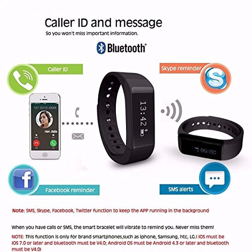 Elegiant Wireless Fitness Pedometer Tracker Bluetooth