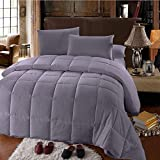 Royal Hotel Oversized Queen Down-Alternative Comforter - Duvet Insert, 100% Down Alternative Fill, Gray