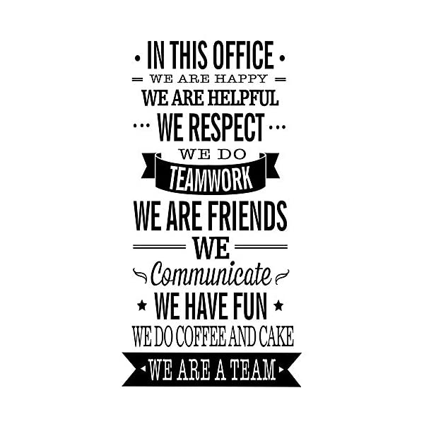 Mix Decor Letter Wall Decal – Work Team Wall Sticker Office Livingroom Kid Baby Nursery Room Decoration WE ARE FRIENDS Wall Art Vinyl Decals Stickers Quotes and Sayings Decor,17×35 Inch,Black