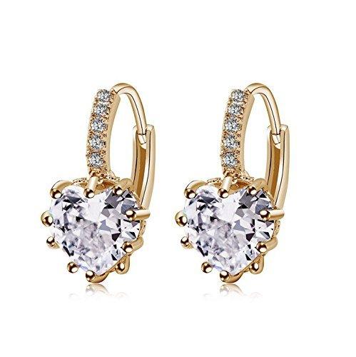 Charming da donna, in argento Sterling, orecchini a perno Ear orecchini a cerchio BeautyLife