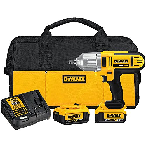 DEWALT 20V MAX Impact Wrench Kit, High Torque, Detent Pin Anvil, 1 2-Inch DCF889M2