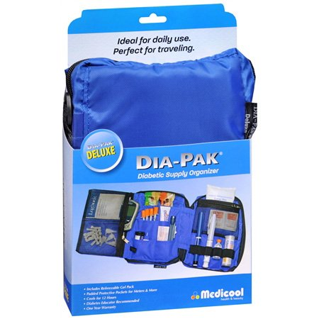medicool-dia-pak-deluxe-diabetic-supply-organizer-blue