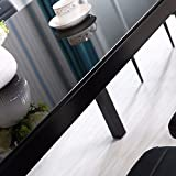 IDS Online 7 Pieces Modern Glass Dining Table Set