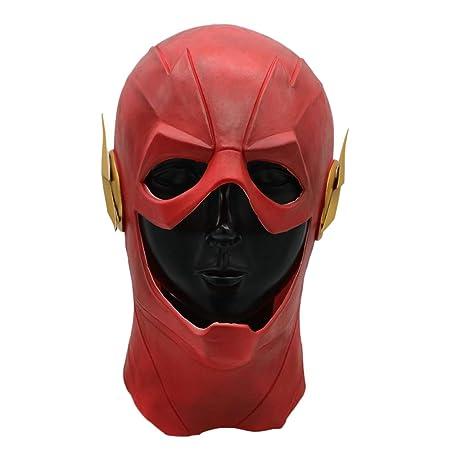 QQWE Marvel Hero The Flash Cosplay Látex Máscara Película ...