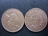 2 Pcs 1796 LIBERTY CAP HALF CENT - HEAD RIGHT coins copy 100% Copper