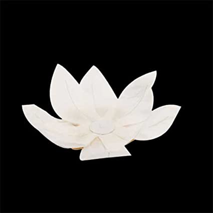 White Paper Lotus Flower Floating Lantern 5pcs Wishing Lamp Water