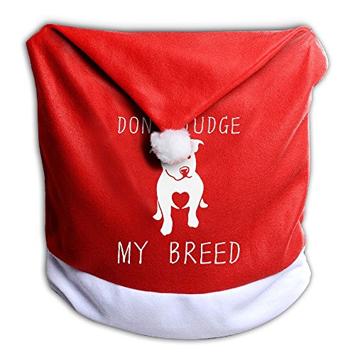 Christmas Seat Cover Don't Judge My Breed Cool Santa Claus Chair Covers 50x60CM ZHONGRANINC