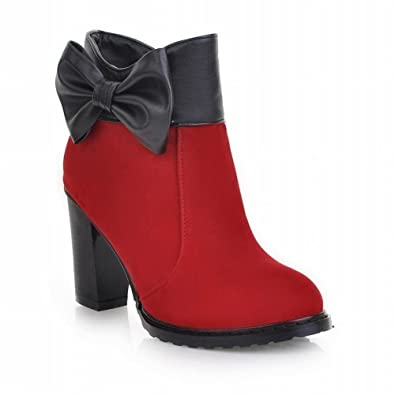 Fashion Bows Ladies High Heel Ankle Dress Boots