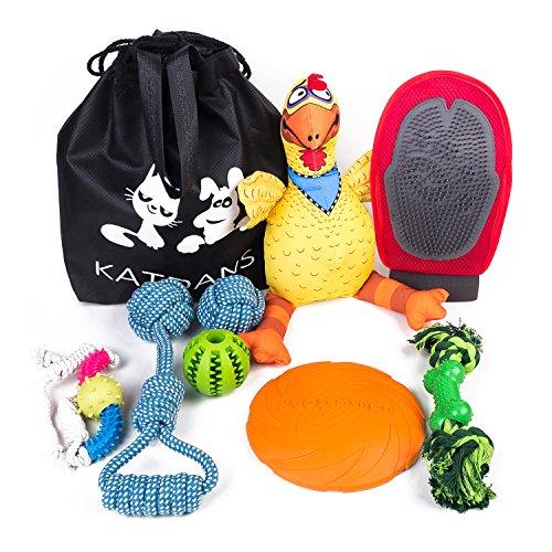KATDANS Pet Toy Set 8 Pack Including Dog Rope Toys, Dog Fris