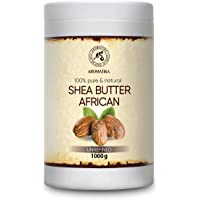 Unrefined Shea Butter 1000g - Cold Pressed - Africa - Ghana - 100% Pure & Natural Shea Butter Body Butter - Unrefined…