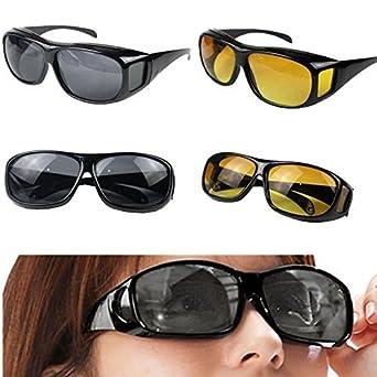 68966943ed49 LUMONY Day   Night HD Vision Goggles Anti-Glare Polarized Sunglasses Men Women  Driving Glasses Sun Glasses UV Protection Car Drivers  Amazon.in   Industrial ...