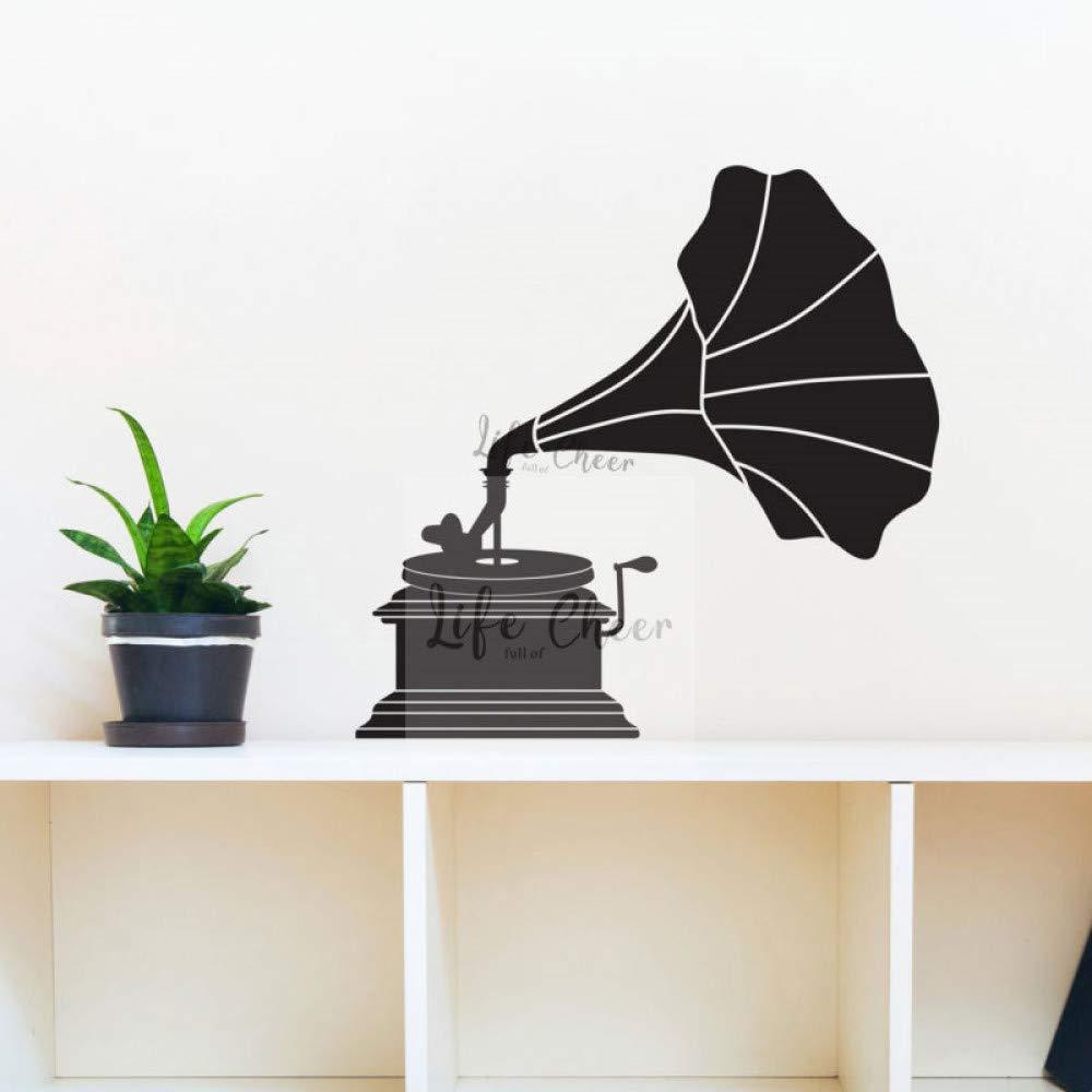 JXGG Etiqueta de la Pared del gramófono diseño clásico decoración ...