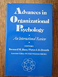 Advances in Organizational Psychology: An International Review
