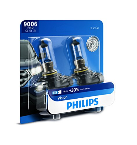 Philips 9006 Vision Upgrade Headlight Bulb with up to 30% More Vision, 2 (97 Honda Accord Right Headlight)
