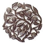 Cheap Garden Tree of Life with Sunflowers and Birds, Haiti Metal Wall Art, Fair Trade 12.5″x 12.5″