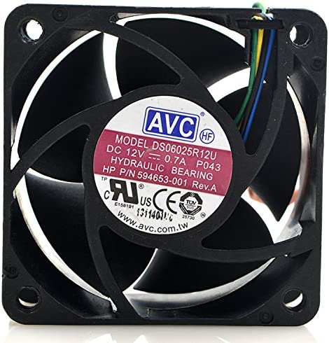 for AVC DS06025R12U 6025 12V 0.70A 6cm 4-Wire PWM Server Cooling Fan