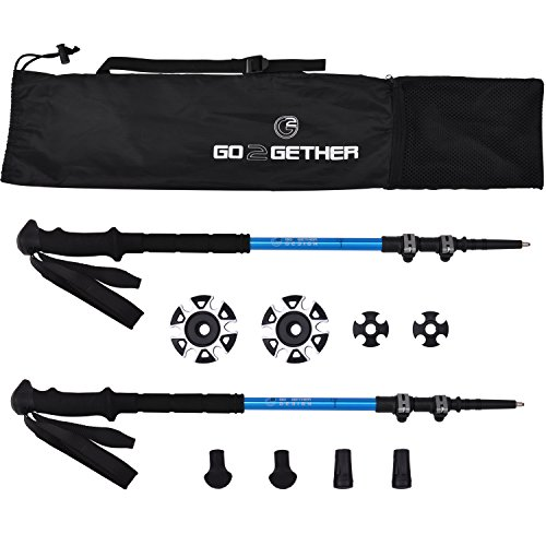G2 GO2GETHER Go2gether Expedition Trekking Poles Telescopic Aircraft Alloy (Pack of 2 (Expedition Trekking Pole)
