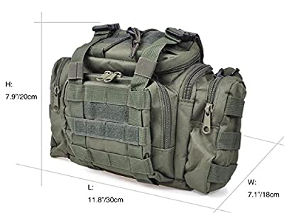 Fishing Tackle Bag Water Resistant Soft Sided Waist Shoulder Carry Storage Hiking Climbing Fly Optional Color
