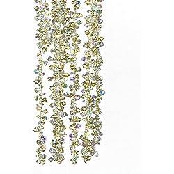 Kurt Adler Gold and Irridescent Bead Christmas Tree Garland (9 feet)