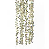 Kurt Adler Gold & Irridescent Bead Christmas Tree Garland 9 feet