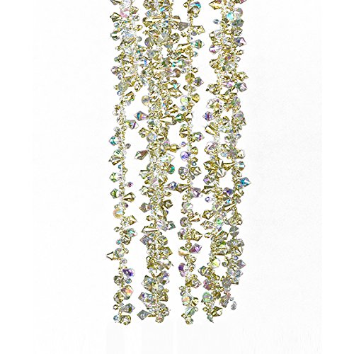 Kurt Adler Gold and Irridescent Bead Christmas Tree Garland (9 feet) by Kurt Adler