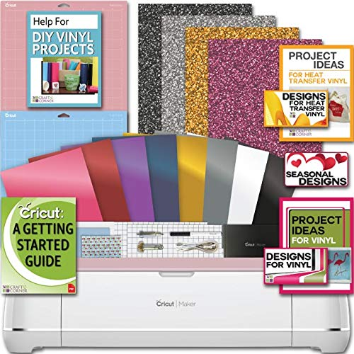 Cricut Maker Machine Bundle 4 Smooth HeatTransfer Permanent Vinyl Design/Projects
