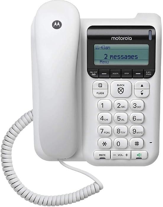 Motorola CT610 Corded Telephone - Answering Machine & Call Blocking