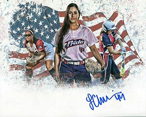 - Lauren Chamberlain Oklahoma Sooners Softball World Series Signed Autograph Photo - Autographed College Photos