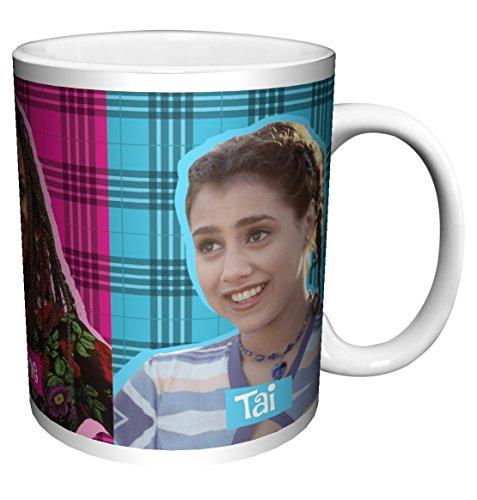 Clueless Cher Dionne and Tai Plaid Teen Comedy Movie Film Ceramic Gift Coffee (Tea, Cocoa) (11 oz C Handle Ceramic Mug)