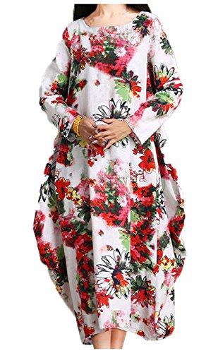 重くする少年妊娠した[ソーロ トゥ] ゆったり 花柄 エスニック ワンピース マキシ丈 レディース トップス マタニティ