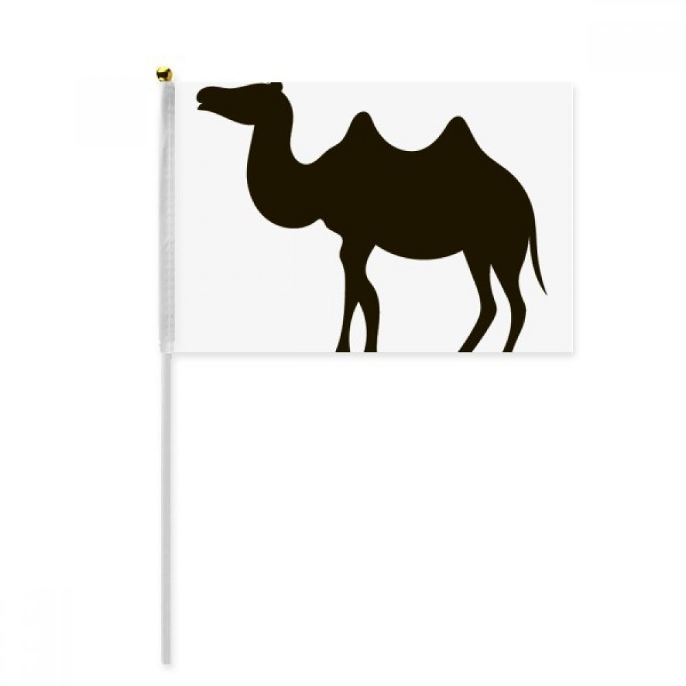 Black Camel Cute Animal Portrayal Hand Waving Flag 8x5 inch Polyester Sport Event Procession Parade 4pcs