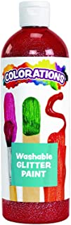 product image for Colorations Washable Glitter Paint, Red, Non Toxic, Vibrant, Bold, Kids Paint, Craft, Hobby, Fun, Art Supplies, 16 oz.