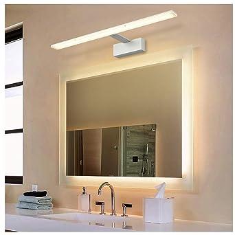 Ralbay Applique Salle de Bain 14W Blanc Chaud 3000K, Miroir Salle de ...