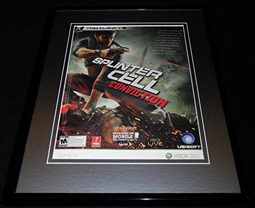 Splinter Cell Conviction 2010 XBox Framed 11x14 ORIGINAL Advertisement (Splinter Cell Conviction Xbox)