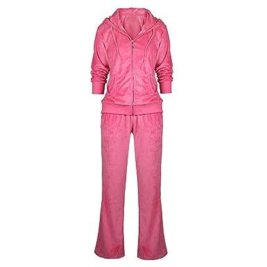 Women Sweatsuit Set Velour Zip Up Hoodie And Pants 2 Pieces Sports