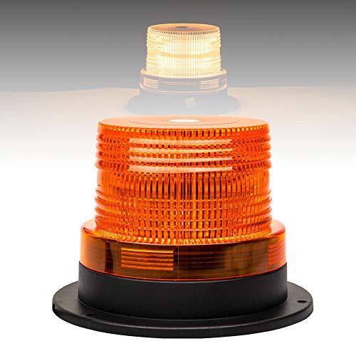 - Liteway Amber Emergency Warning Flashing Trailer Lights Beacon Strobe LED Vehicle Light with Powerful Magnetic Base[Dust Cover] for Cars Trucks
