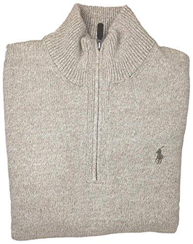 n's Half-Zip Mockneck Sweater, M, OATMEAL ()