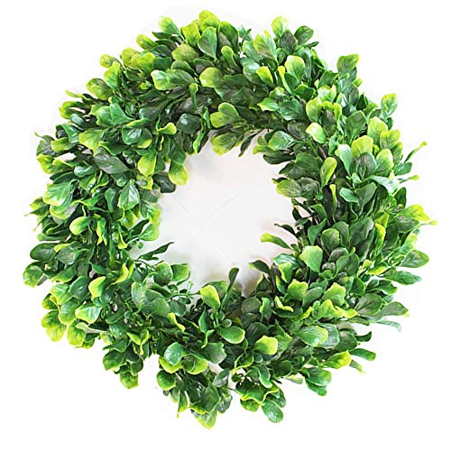 BJH Artificial Green Leaves Wreath - 15