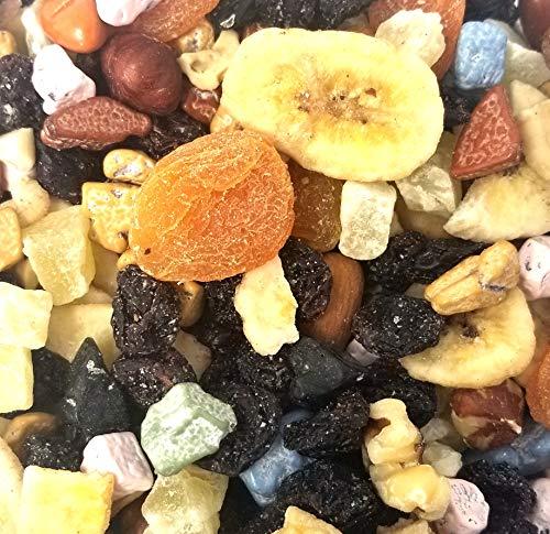 (CrazySnack - Dried Fruit Nut Trail Mix with Chocolate Rocks Candy, 2Lbs)