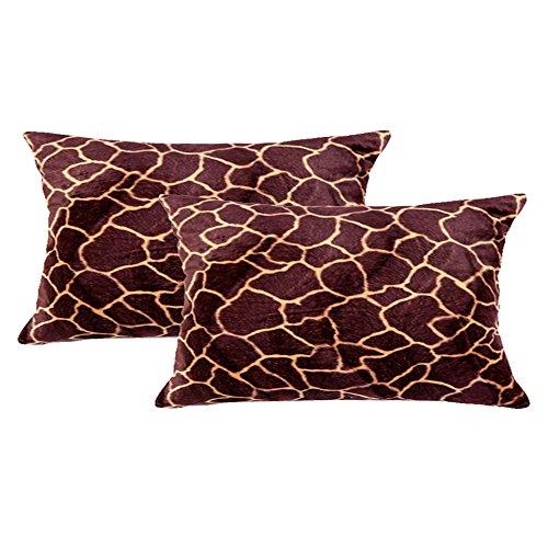 """WOMHOPE 2 Pcs - 14"""" x 19"""" Faux Fur Cushion Decorative Pillow"""