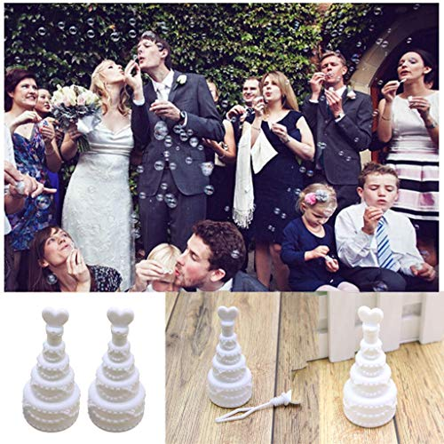 (Mini Cake Bubble Bottles Empty with Wand Bubble Tube Soap Bottle Romantic Wedding Favor for Party Birthday Anniversary (As Shown) )
