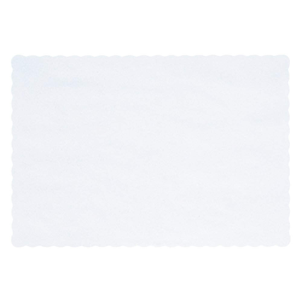 Hoffmaster 310477 Placemat, Classic Scalloped Edge, 9-5/8'' x 13-1/2'', White (Pack of 1000)