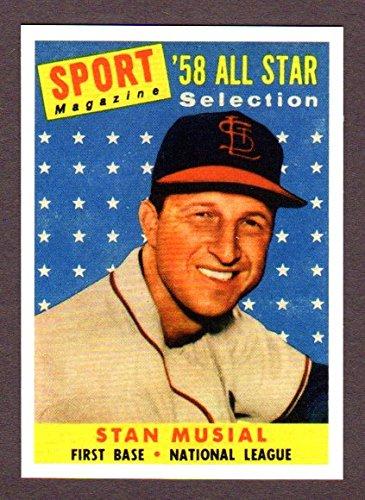 Stan Musial 1958 Topps All-Star Baseball Reprint (Cardinals)